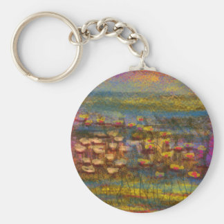 Lilies on the Water design by Carole Tomlinson Key Chains