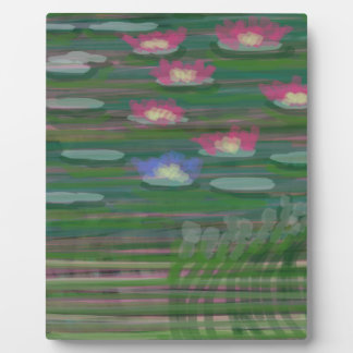 Lilies on Water Plaque