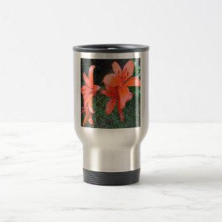 Lilies Orange Garden Travel Mug