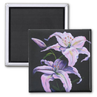 Lilies Painting Magnet