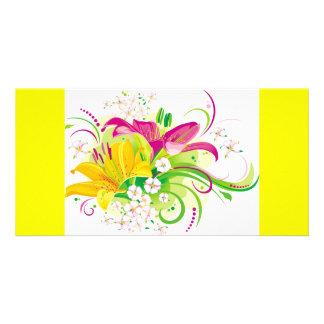 Lilies Customized Photo Card