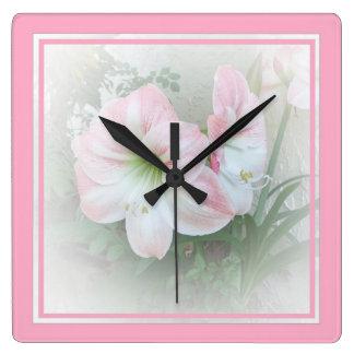 Lilies pink 3 Clock