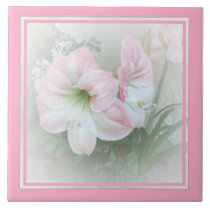 Lilies pink 3 Tile
