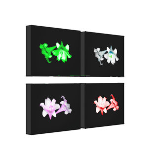 Lilies (Special Effects) 4-panel wrapped canvas