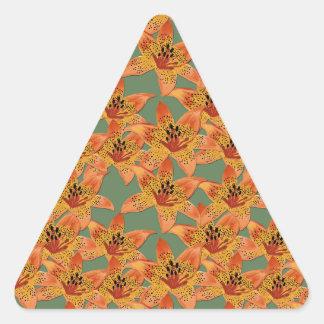 Lilies Triangle Sticker
