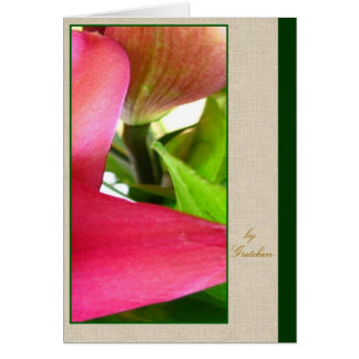 Lilies Up Close Greeting Card by Gretchen