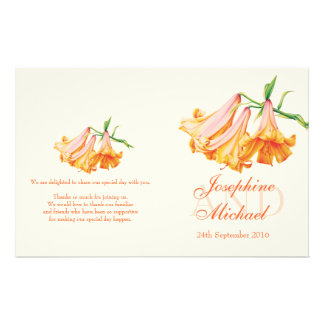Lilies wedding programme personalized flyer
