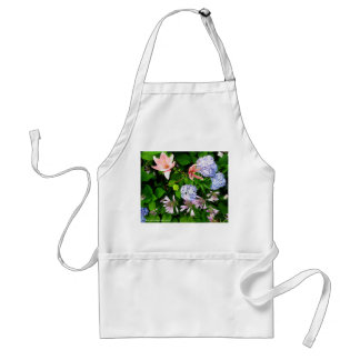 Lilies with Hydrangeas Adult Apron