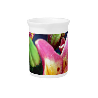 Lilies with Rain Drink Pitcher