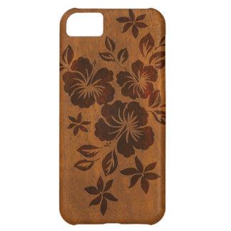 Lilikoi Hibiscus Hawaiian Faux Wood iPhone 5 C iPhone 5C Cover