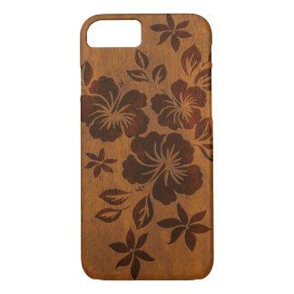 Lilikoi Hibiscus Hawaiian Faux Wood iPhone 7 Case