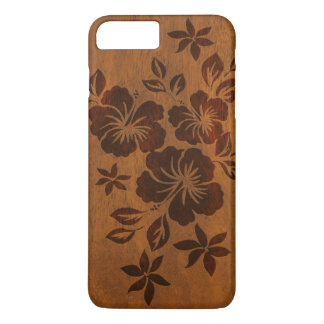 Lilikoi Hibiscus Hawaiian Faux Wood iPhone 7 Plus Case
