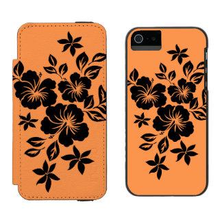 Lilikoi Hibiscus Hawaiian Floral Duo iPhone SE/5/5s Wallet Case