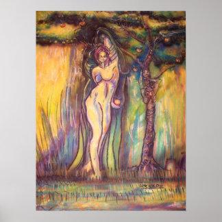 Lilith, Adán, el diablo y la fruta en Eden Impresiones