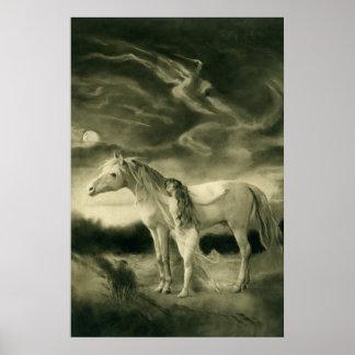 Lilith con el caballo blanco posters