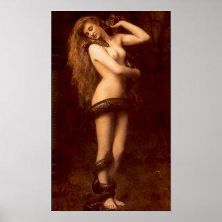 Lilith con la serpiente - poster