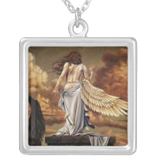 Lilith in Anger Square Pendant Necklace