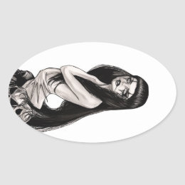 Lilith Oval Sticker