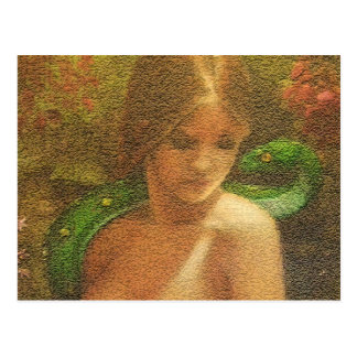 LILITH PAINTING craqled Postcard