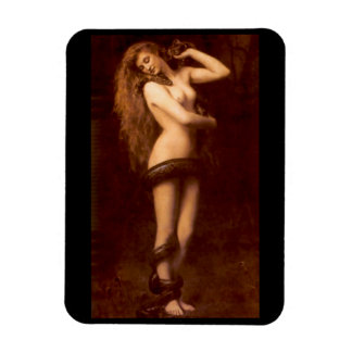 Lilith With Snake - Rectangle Magnet