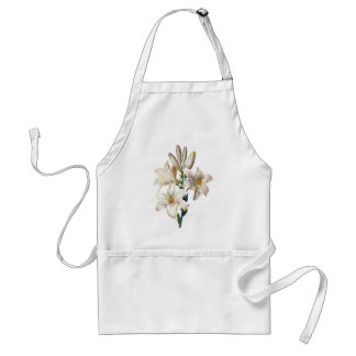 Lilium Candidum or Madonna Lily By Redoute Adult Apron
