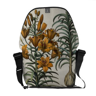 Lilium purpureum mauis Do danei and Scapus cum bul Messenger Bag