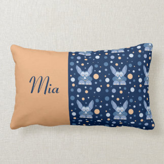 Lill Me Dark Blue 01b Baby Girl Name Pillows