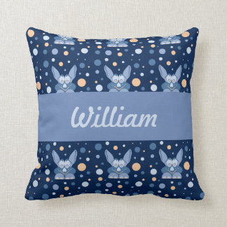 Lill Me Dark Blue Baby Name  Pillows