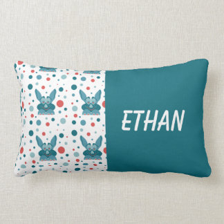 Lill Me Turquoise Red 01 Baby Name Pillows