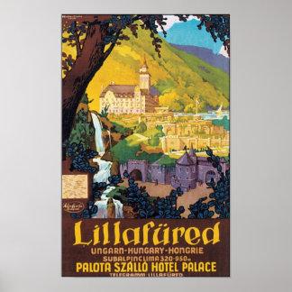 Lillafured Hungarian Travel Poster