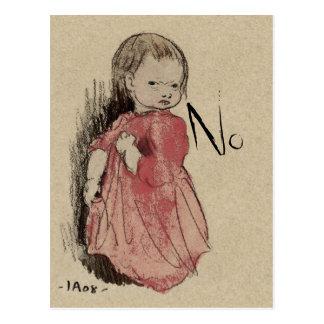 Lillan Says No CC0239 Postcard