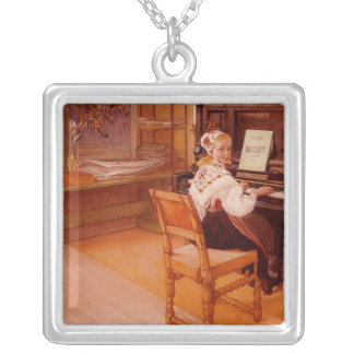 Lillanna Playing Mozart Square Pendant Necklace
