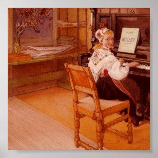 Lillanna Playing Mozart Poster