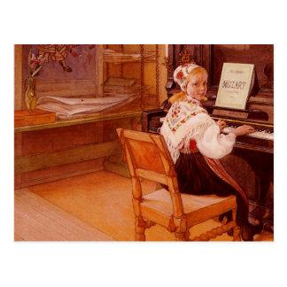 Lillanna que juega a Mozart Postales