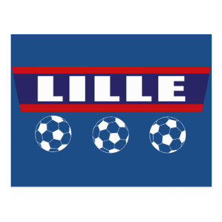 Lille northern football Inhabitant of Lille Postcard