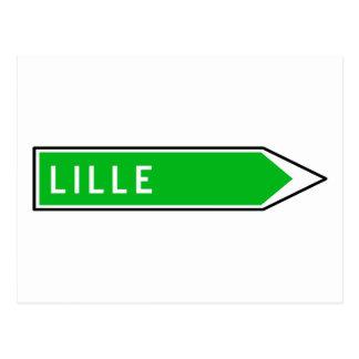 Lille, Road Sign, France Postcard