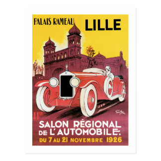 Lille Salon Regional de L'Automobile Postcard