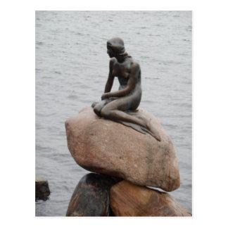 Lillehavefru little mermaid Copenhague Dinamarca Tarjetas Postales