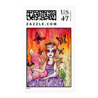 Lilley of the Valley Postage Stamp