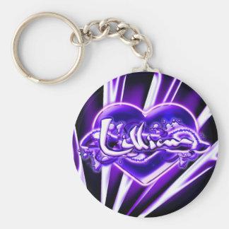 Lillian Basic Round Button Keychain
