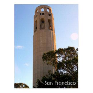 lillian coit tower postcard