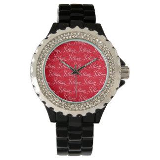 Lillian - diseño moderno del nombre de la reloj de mano