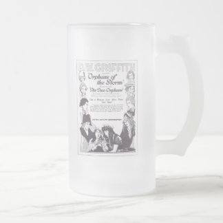 Lillian & Dorothy Gish Orphans of the Storm Frosted Glass Beer Mug