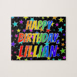 "[ Thumbnail: ""Lillian"" First Name, Fun ""Happy Birthday"" Jigsaw Puzzle ]"