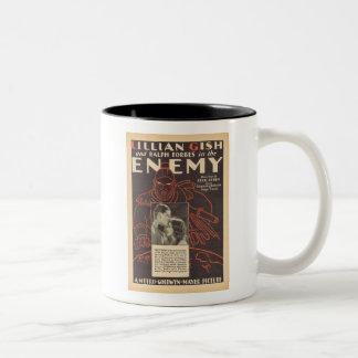 Lillian Gish el anuncio enemigo de la película Taza De Dos Tonos
