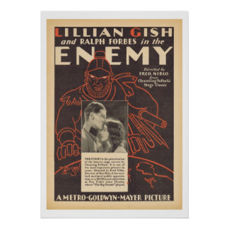 Lillian Gish The Enemy movie ad Poster