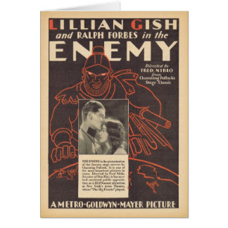 Lillian Gish The Enemy movie advertisement Card