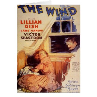 Lillian Gish The Wind movie poster Card