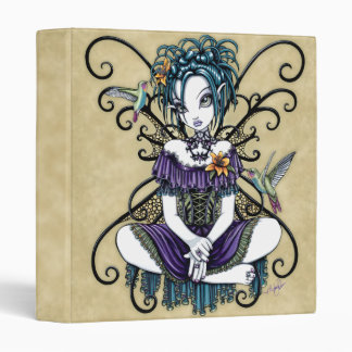 """Lillian"" Gothic Hummingbird Fairy Art Binder"
