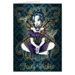 """Lillian"" Gothic Hummingbird Fairy Art Card"